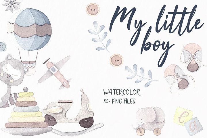 My little boy watercolor set