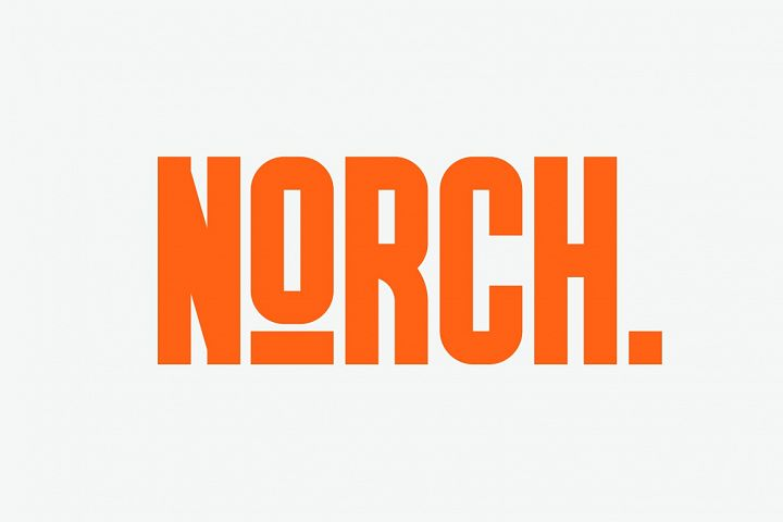 GR Norch - Sports Display Font