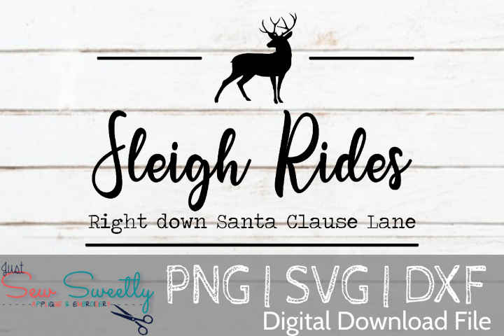 Sleigh RidesSign SVG Cut File