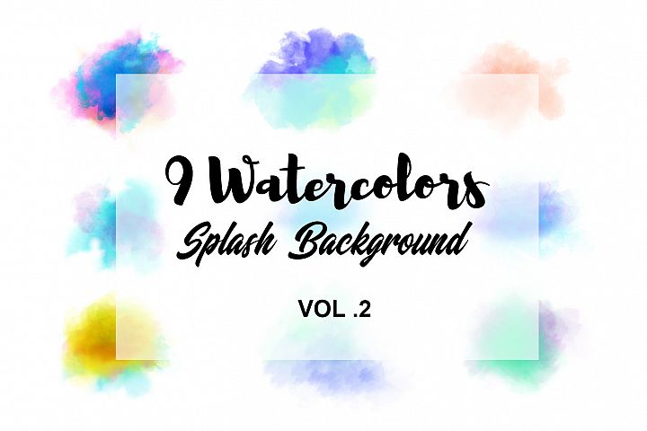 Watercolor Splash Background Vol.2