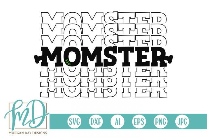 Halloween - Mom - Monster- Momster SVG