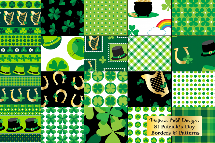 St Patricks Day Patterns & Borders