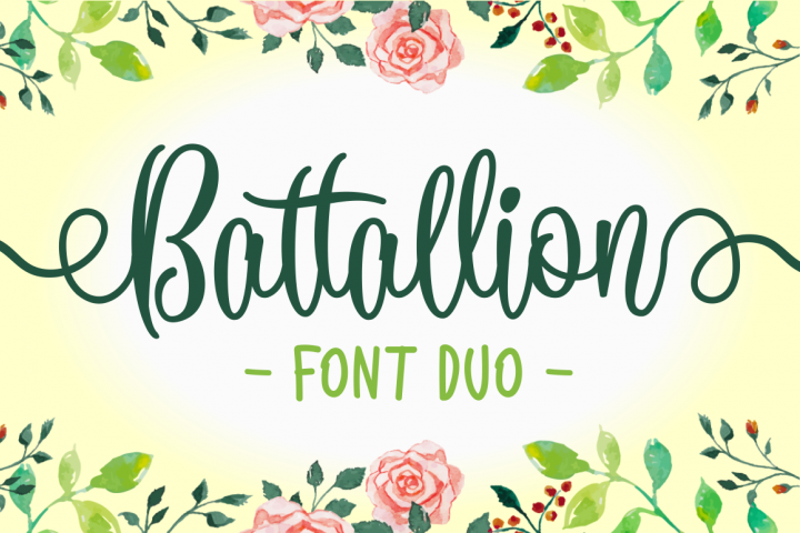 Battallion Font Duo - 70% OFF