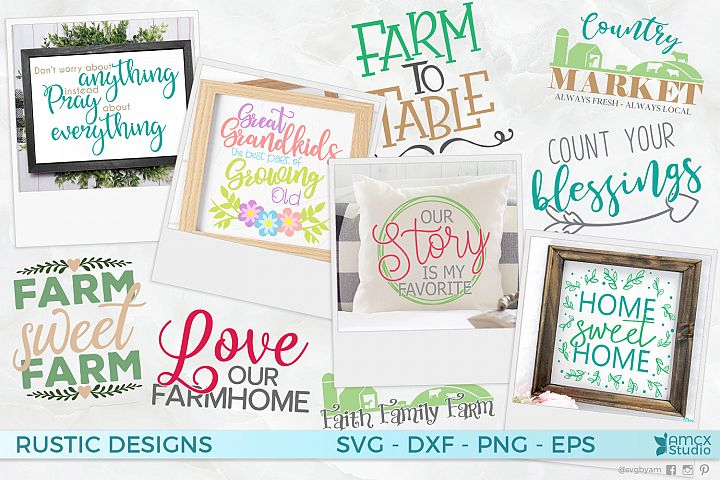 Farm Home Bundle - A Cute Set of Decor Craft Files