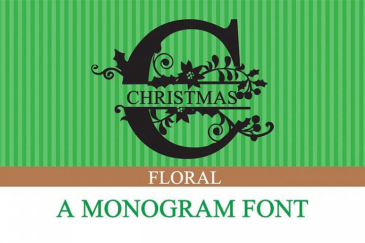 PN Christmas Floral Monogram Banner