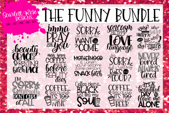 The Funny Saying SVG Bundle