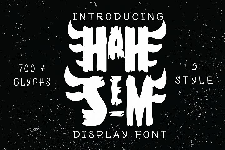 Hah Sem Display Font 3 style
