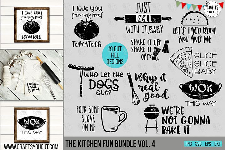 Funny Kitchen Bundle Vol. 4- An SVG Cut File Bundle