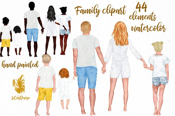 Family clipart Family figures Infant baby Dad Mom kids