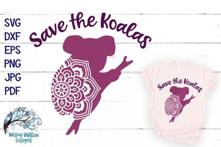 Save the Koalas SVG | Koala Mandala SVG Cut File