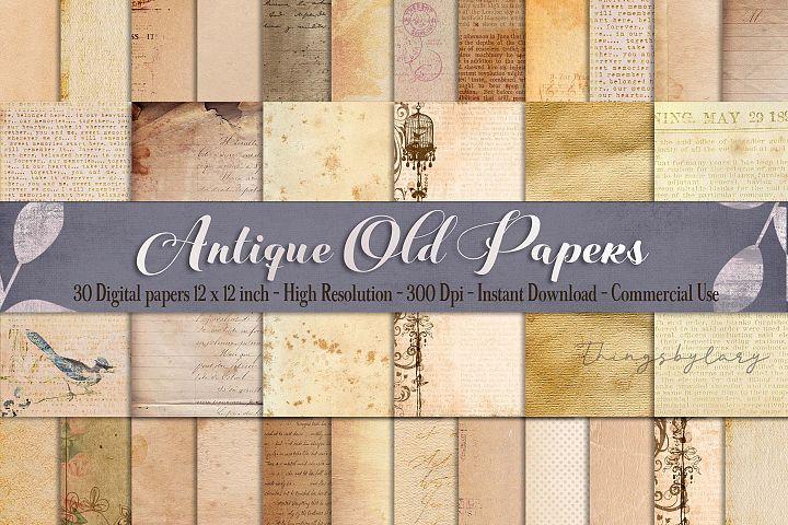 30 Antique Vintage Old Background distressed grunge papers