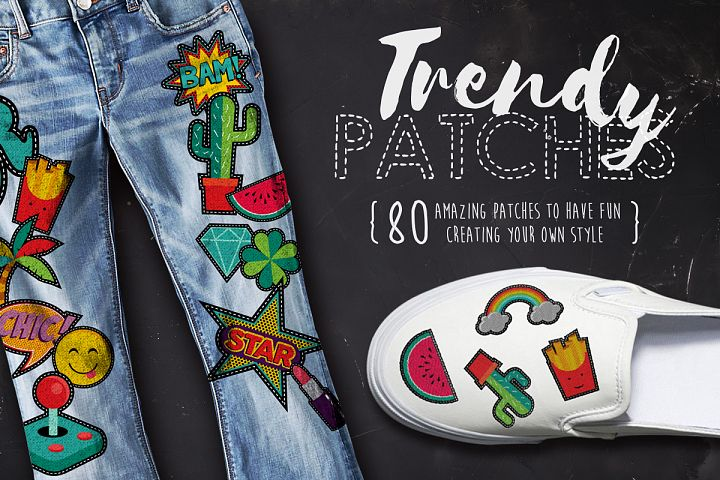Trendy Patches: vintage 90s set!
