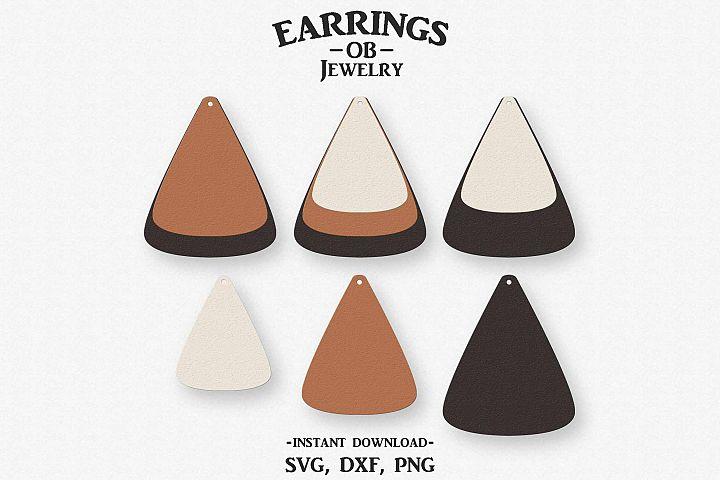 Earring Svg, Teardrop, Stacked, Cut File