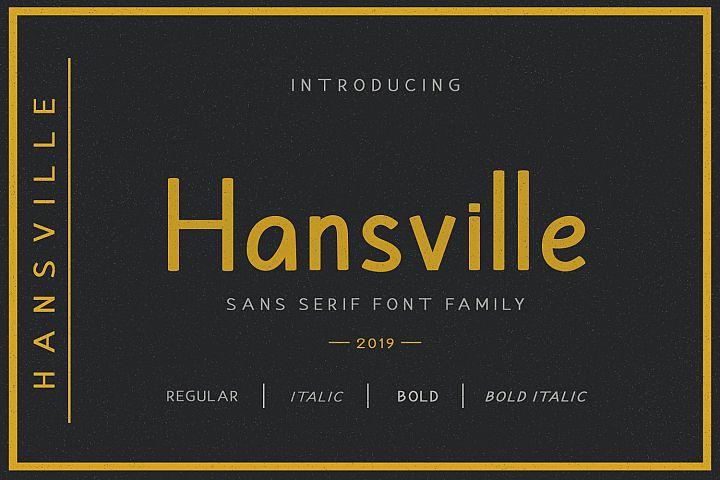 Hansville - Sans Serif