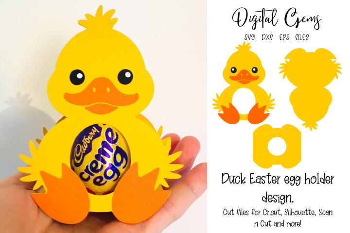 Duck Easter egg holder design SVG / DXF / EPS files