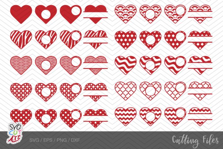 40 Hearts svg, Valentine hearts svg, bundle heart svg pack#1