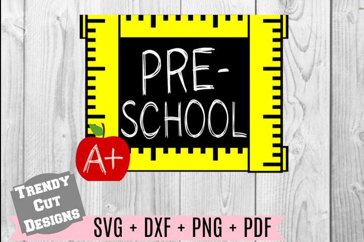 Preschool Grade Ruler Frame, Back to School
