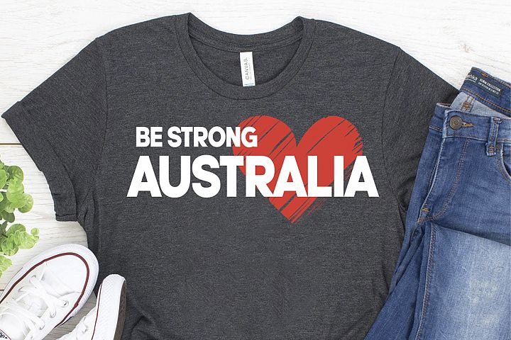 Australia fires wildlife support Be Strong Australia svg
