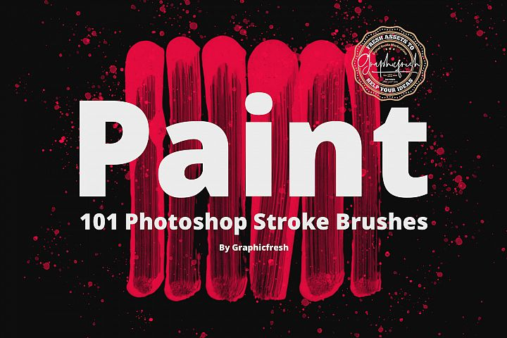 101 Photoshop Paint Stroke Brushes