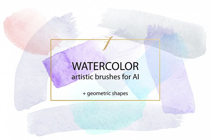 Watercolour Brushes Vector for Adobe Illustrator