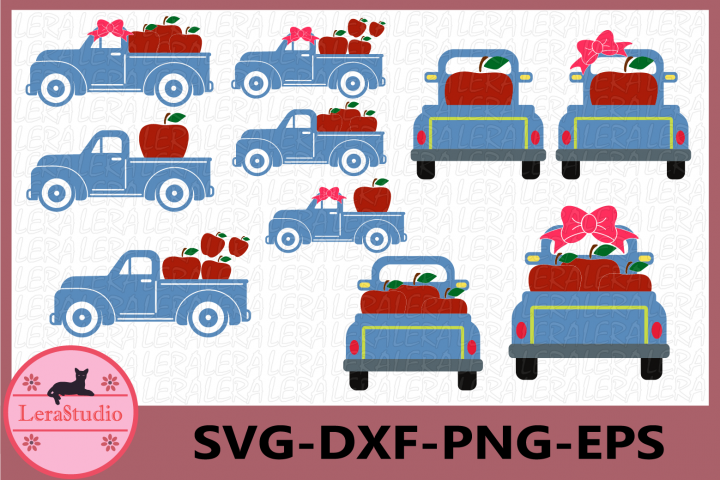 Truck Svg, Apple Svg, Apple Truck svg, Designs Digital