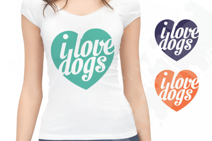 I Love Dogs SVG EPS AI PDF