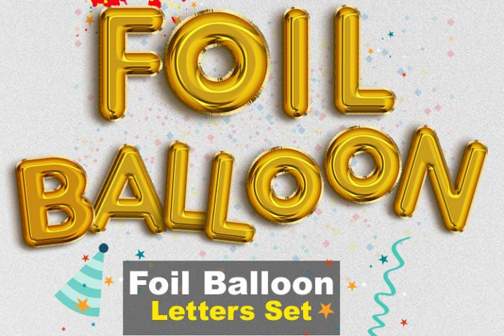Foil Balloon Letters Set - PNG