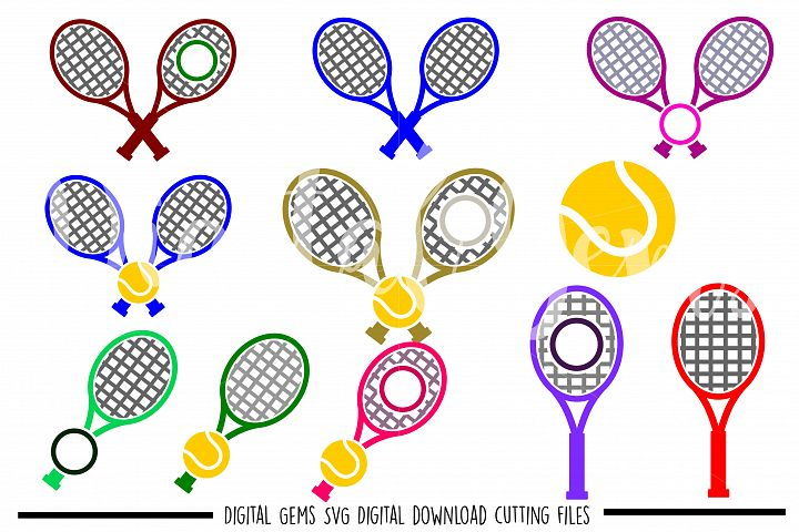 Tennis SVG / PNG / EPS / DXF files