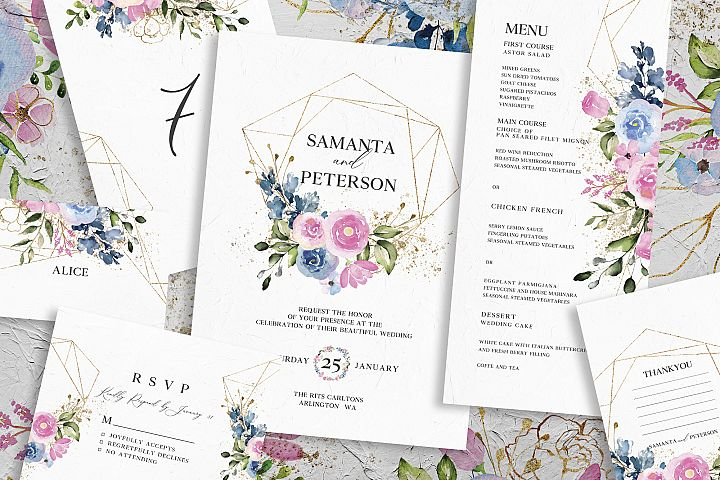 Delicate Floral Wedding Suite