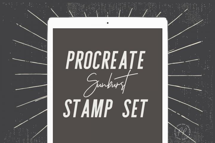 20 Sunburst Procreate Stamps