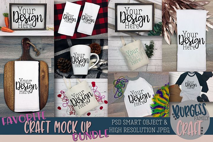Favorite Craft mock up Bundle | PSD & JPEG