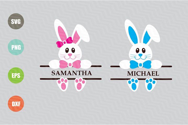 Easter Bunny Svg, Easter Monogram Svg