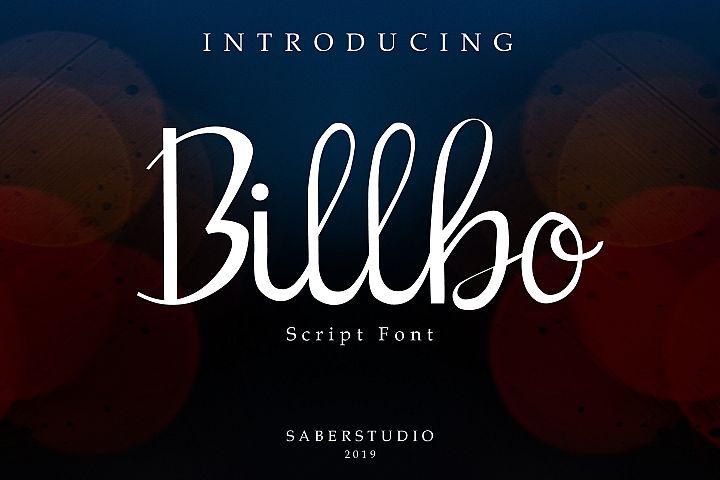 Billbo Script Font