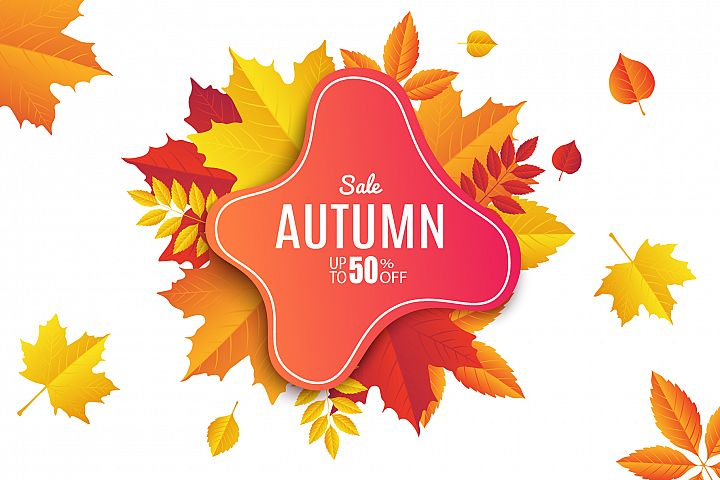 Autumn Sale. Abstract Banners