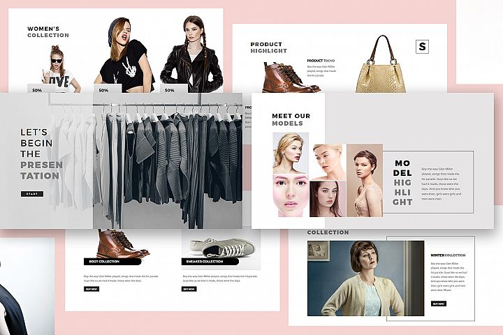 Fashion Lookbook Powerpoint Template