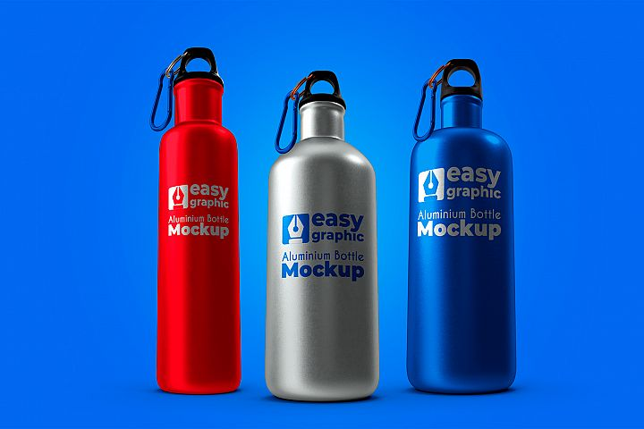Aluminium Bottle Mockup
