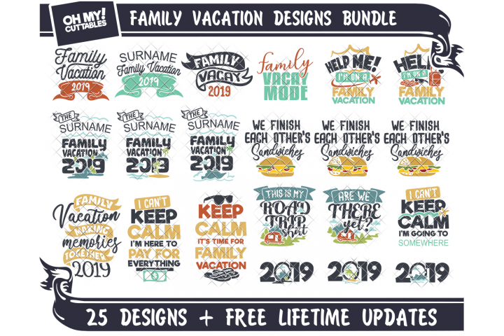 Family Vacation SVG Shirts in SVG, DXF, PNG, EPS, JPG