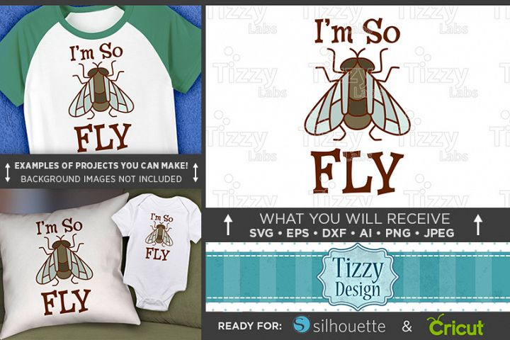 Im So Fly Svg File - Cute Kids Shirt Svg - 1089
