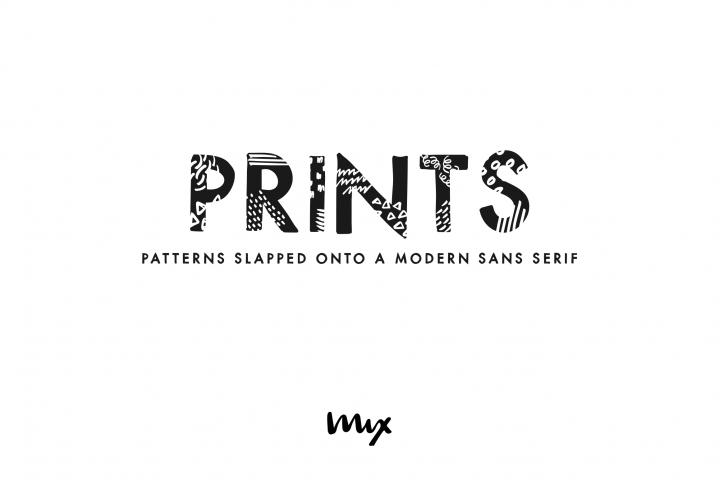 Prints - A Handdrawn Printed Modern Sans Serif