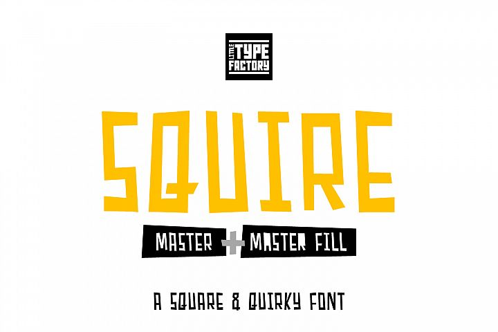 Squire Master - square & quirky font