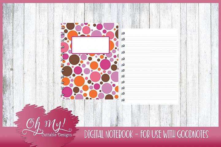 Sweet N Sassy Polkadots Digital Notebook for iPad GoodNotes