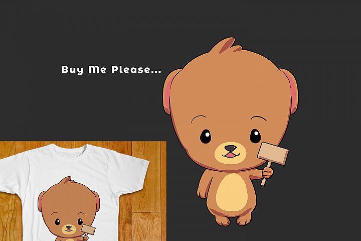 CUTE LITTLE BEAR LOGO FOR T-SHIRT