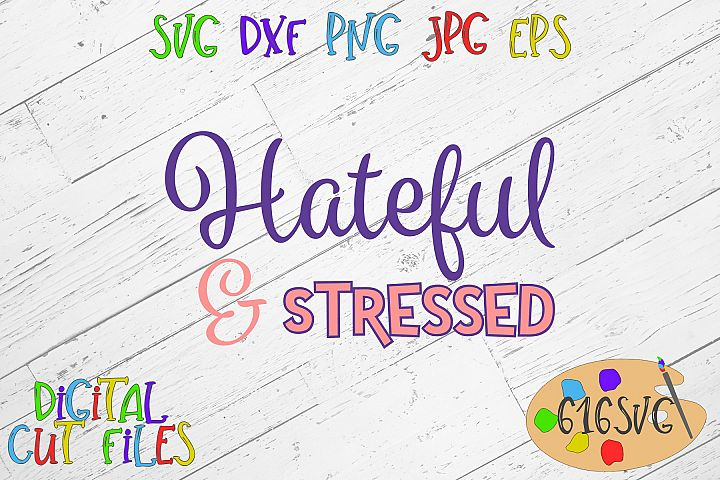 Hateful and stressed SVG