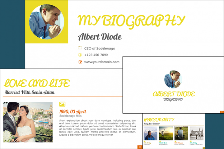 The Biography Presentation Templates