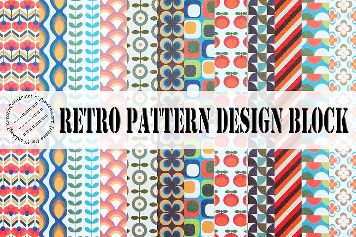 Retro Pattern Design Blocks