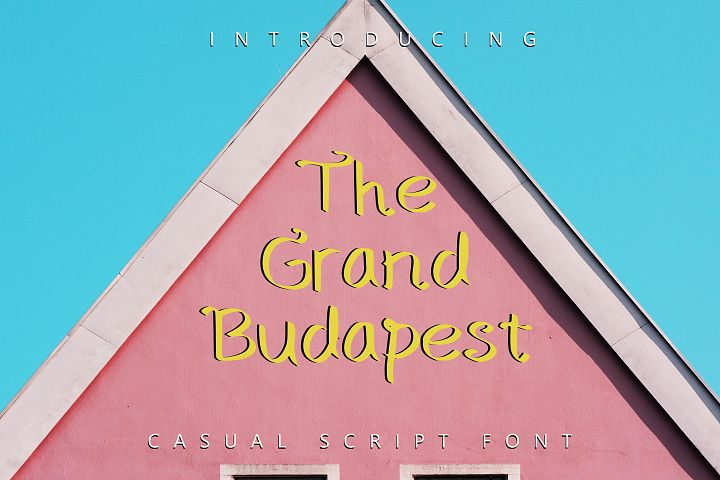 The Grand Budapest Font