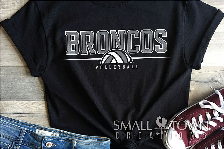 Bronco Volleyball, Logo, Team, Sports, PRINT, CUT & DESIGN