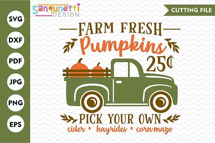 Farm fresh pumpkins SVG, autumn cut file