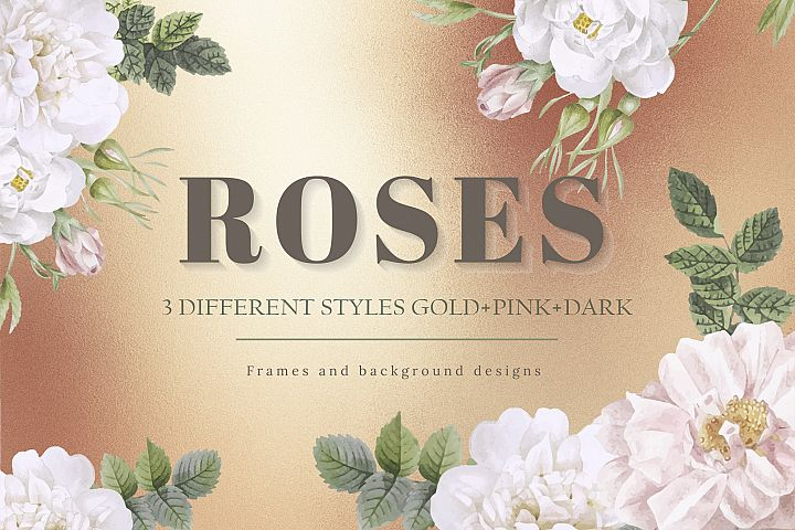 Rose Gold Watercolor & Foil Backgrounds