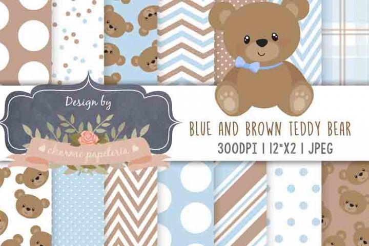 Teddy Bear Baby Boy Baby Shower, Teddy Bear Pink and Brown